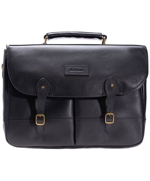 Barbour Leather Briefcase - Black