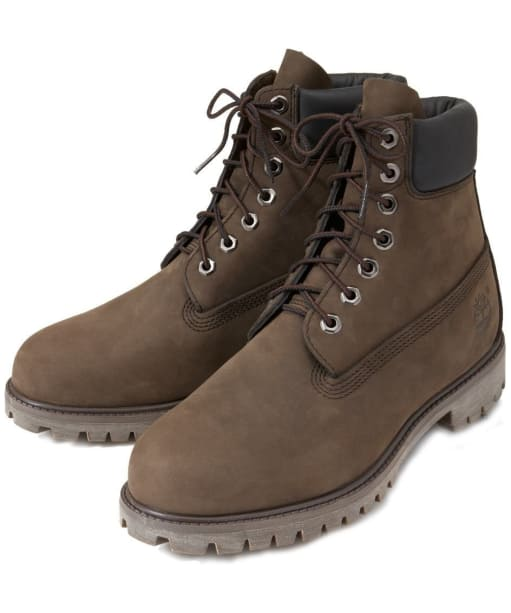 "Men's Timberland 6"" Premium Boots - Dark Chocolate Nubuck"