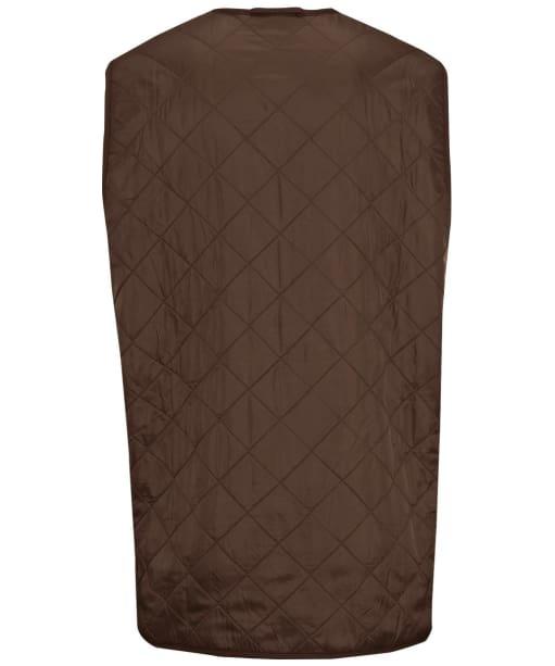 Men's Barbour Polarquilt Waistcoat / Zip-In Liner - Dark Brown