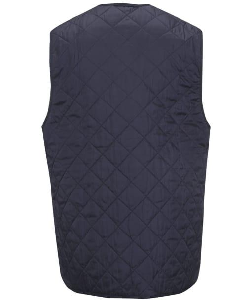 Men's Barbour Quilted Waistcoat / Zip-in Liner - Navy