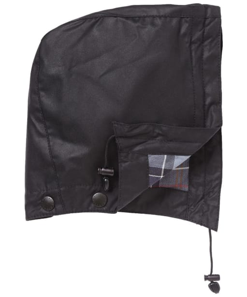 Barbour Waxed Cotton Hood - Black
