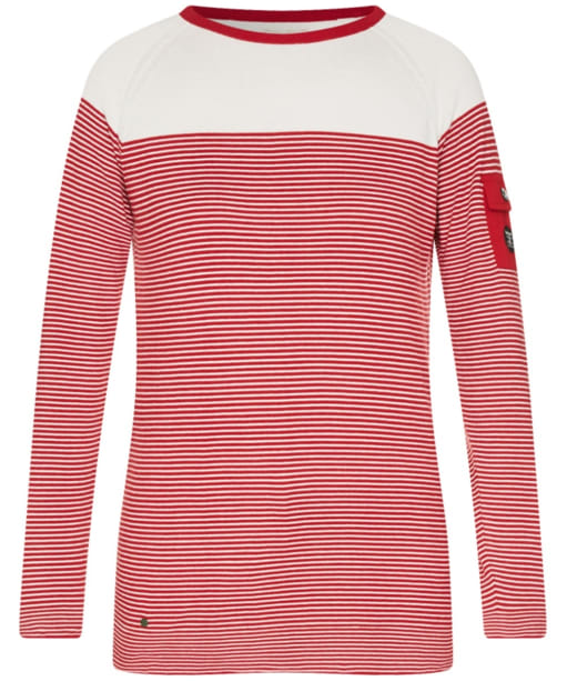 Women's Barbour Ailsa Crew Neck Sweater - Chilli Red