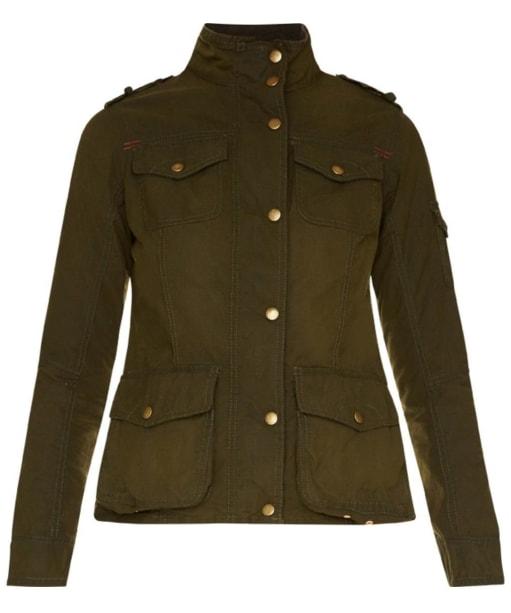 Women's Barbour Churchill Wax Jacket - Fern