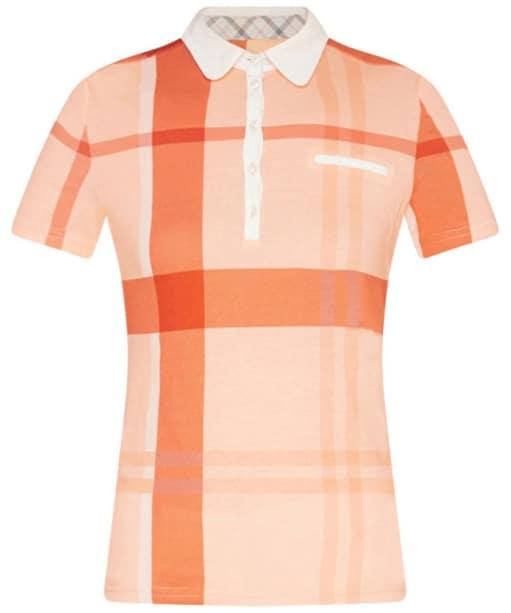 Women's Barbour Glow Polo Shirt - Camelia