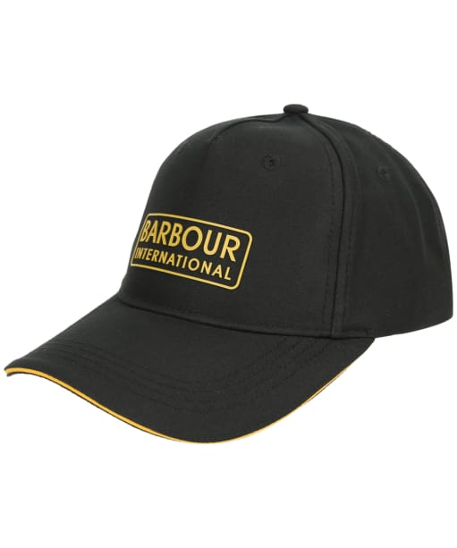 Men's Barbour Hudson Sports Cap - Black / Yellow