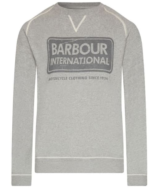 Barbour International Logo Sweater - Grey Marl