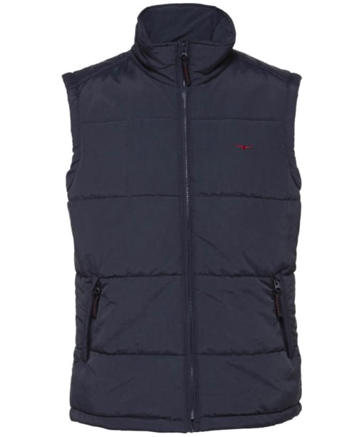 Men's R.M. Williams Patterson Creek Vest - Navy | Burgundy
