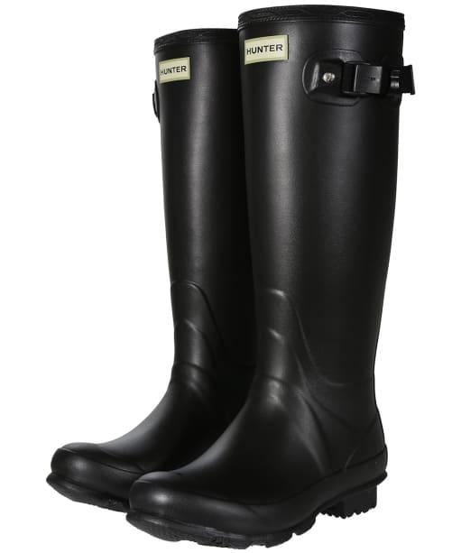 Women's Hunter Norris Field Neoprene Wellington Boots - Black
