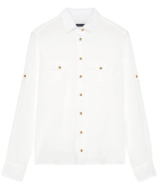 Women's Gant Safari Voile Boy Shirt - Off White