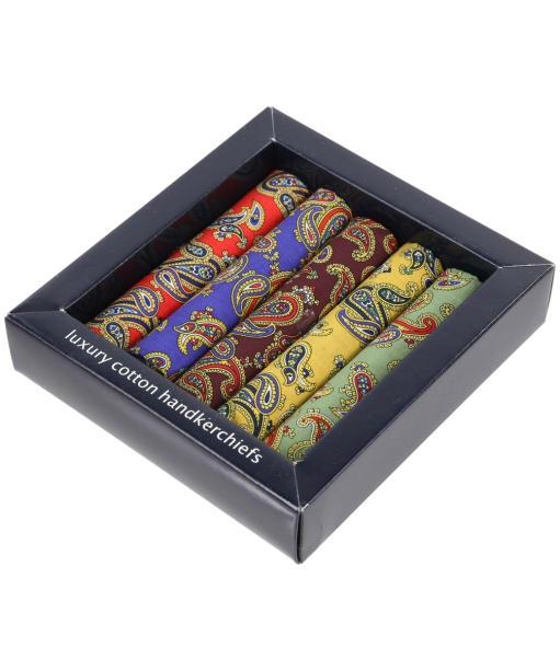 Men's Soprano 5 Colour Paisley Handkerchiefs - Multi