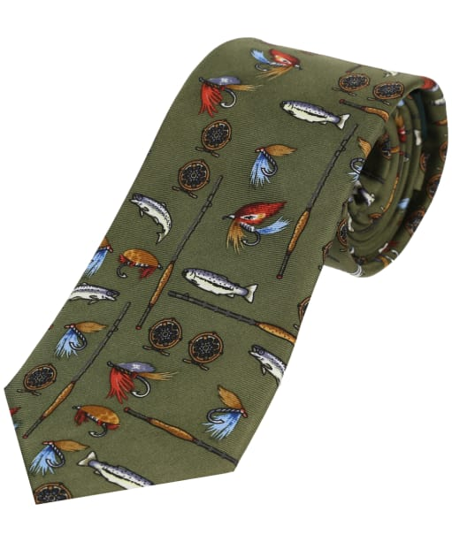 Men's Soprano Fishing Tackle Tie - Country Green