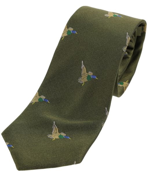 Men's Soprano Green Flying Ducks Tie - Country Green