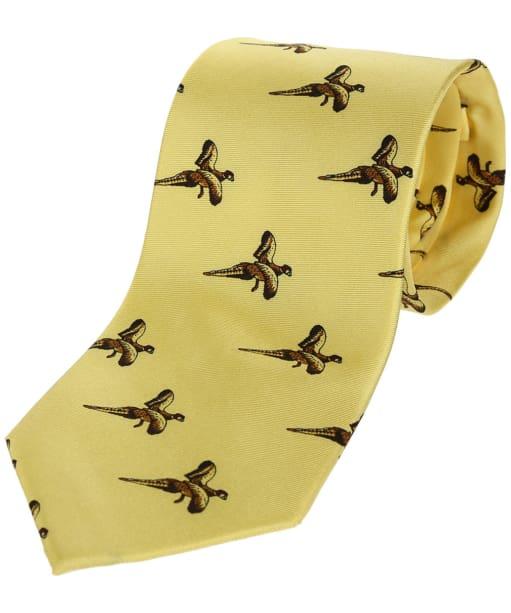 Men's Soprano Flying Pheasant Country Tie - Pastel Yellow