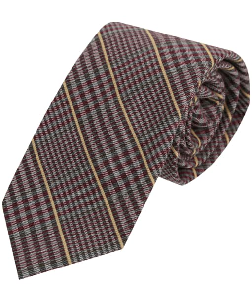 Men's Soprano Checked Wool Tie - Red Tweed