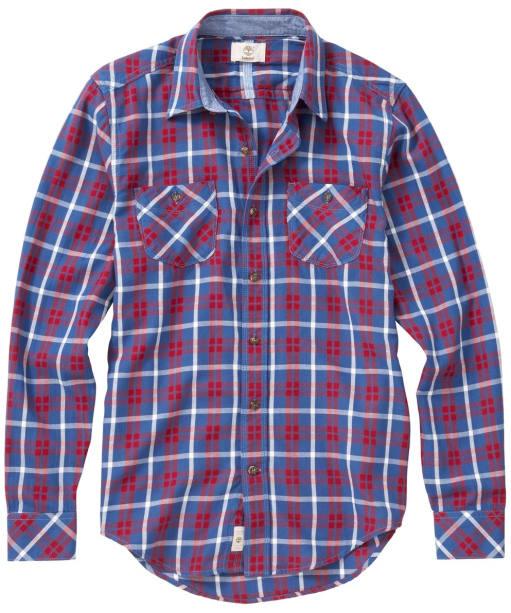 Men's Timberland Warner River Flannel Shirt - Dutch Blue