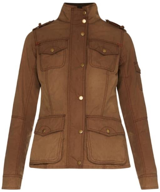 Women's Barbour Churchill Wax Jacket - Bark