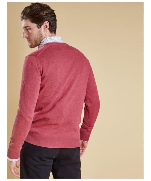Men's Barbour Pima Cotton V-Neck Sweater - Candy Marl