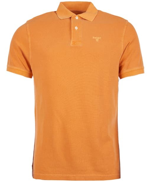 Men's Barbour Washed Sports Polo - Acid Orange