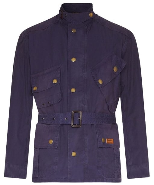 Men's Barbour International Washed Geelong Casual Jacket - Peacoat