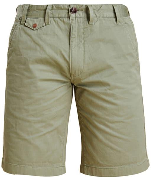 Men's Barbour Neuston Twill Shorts - Sunbleach Olive