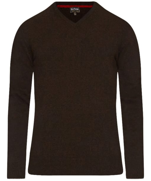 Men's Barbour Harrow V-Neck Sweater - Dark Brown