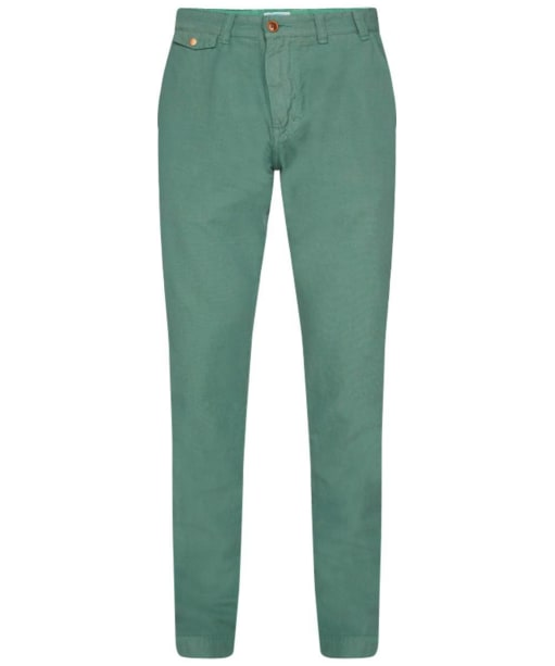 Men's Barbour Neuston Houndstooth Trousers - Nevada Green