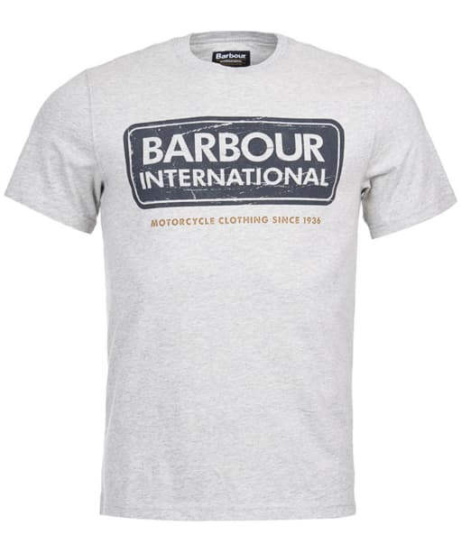 Men's Barbour International Logo Tee - Grey Marl