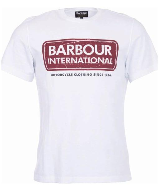 Men's Barbour International Logo Tee - White