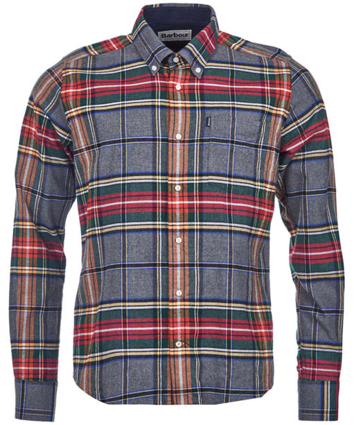 Men's Barbour Castlebay Check Tailored Shirt - Grey Marl Check