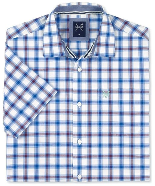 Men's Crew Clothing Bilberry Short Sleeve Shirt - Washed Plum