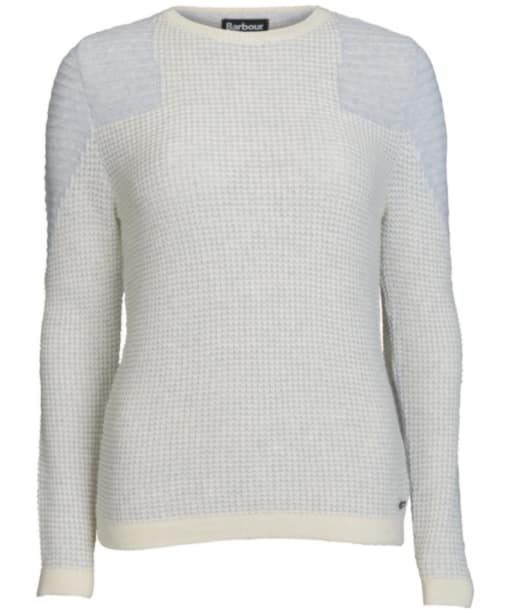 Women's Barbour International Fireblade Crew Neck Sweater - Snow