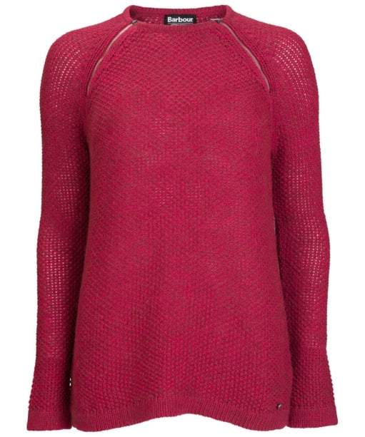Women's Barbour International Worldcrosser Knit Sweater - Crimson
