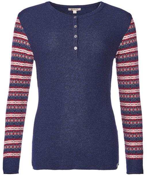 Women's Barbour Landry Sweater - Naval Blue