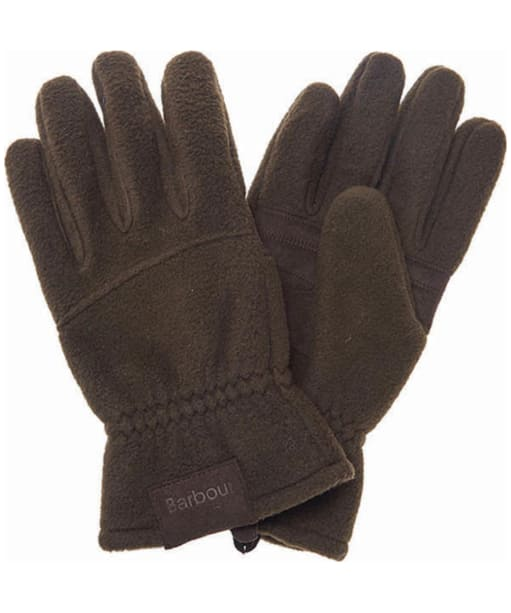 Men's Barbour Fleece Country Gloves - Olive