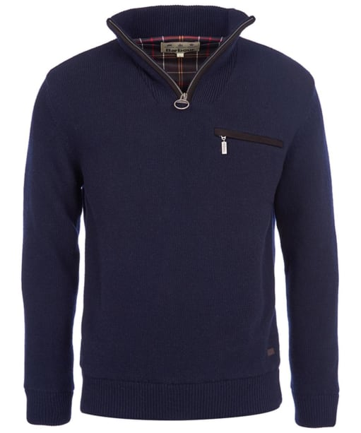 Men's Barbour Ayton Waterproof Half Zip Sweater - Navy