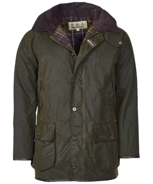 Men's Barbour Longhurst Waxed Jacket - Olive