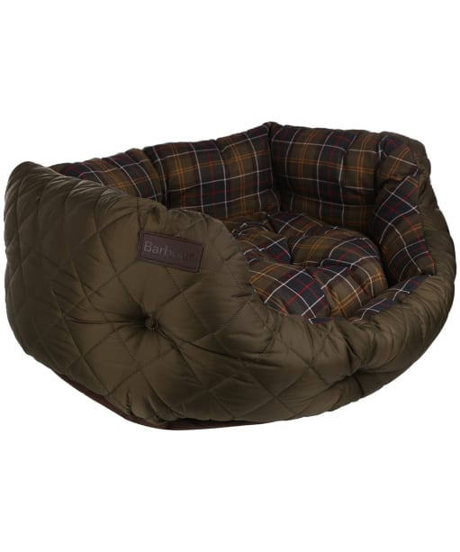 "Barbour 30"" Quilted Dog Bed - Olive"