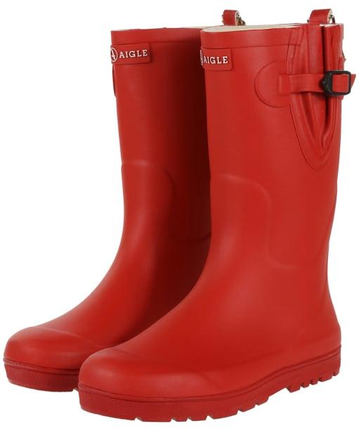 Aigle Kids Woodypop Wellington Boots - Cerise