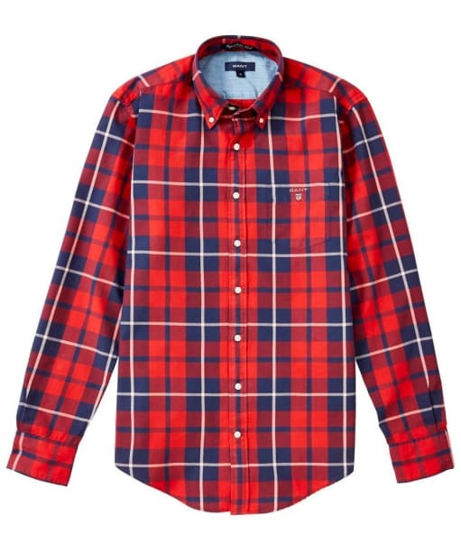 Men's GANT Oxford Madras Shirt - Red