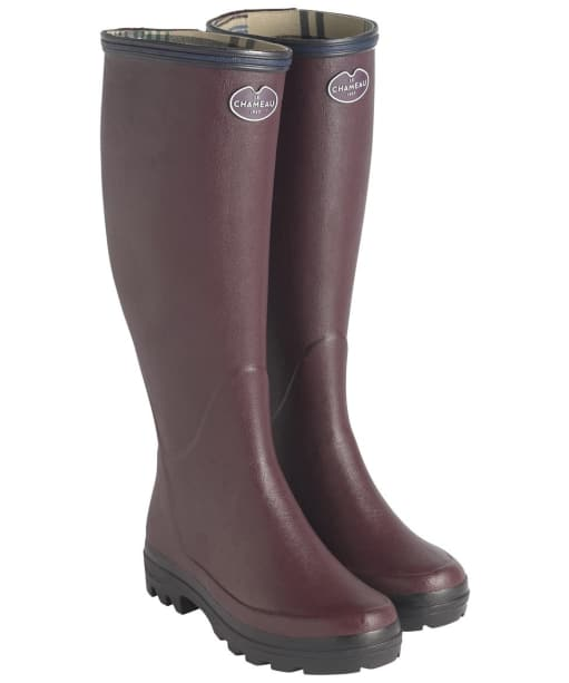 Women's Le Chameau Giverny Wellingtons - Cherry