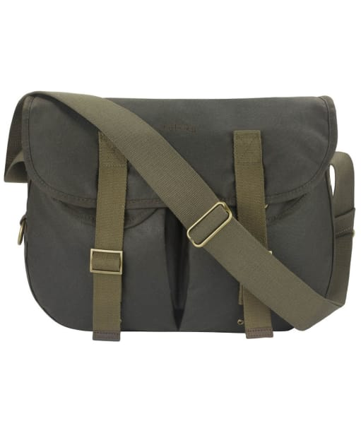 Barbour Waxed Cotton Thornproof Tarras Bag - Medium - Olive