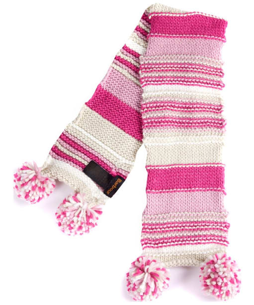 Girls Barbour Ella Stripe Scarf - Pink
