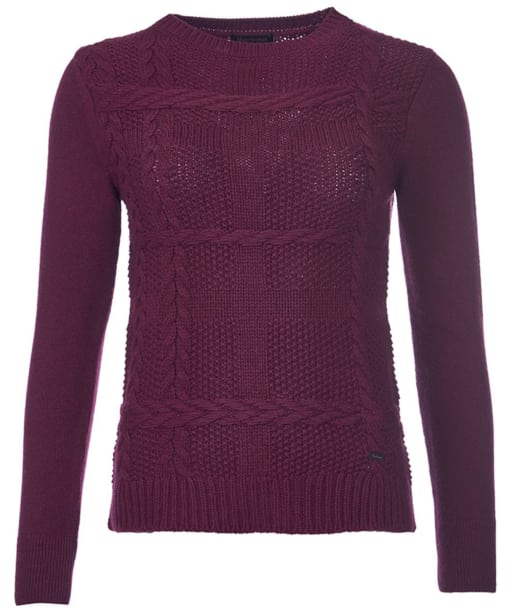 Women's Barbour Etal Crew Neck Jumper - Bordeaux