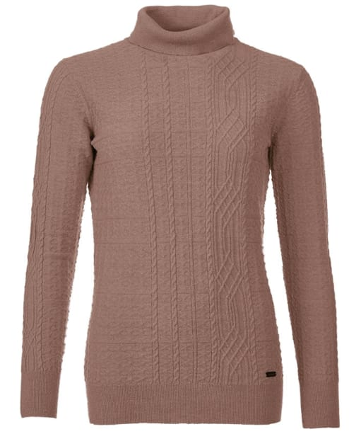 Women's Barbour Nebit Roll Neck Jumper - Vintage Rose