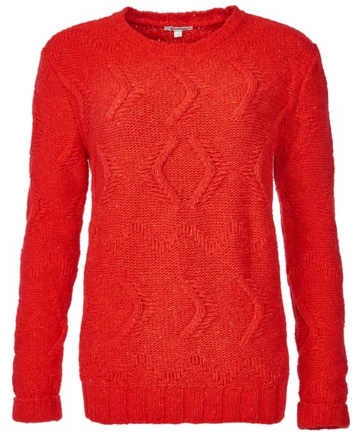 Women's Barbour Kirkby Three Quarter Sleeve Sweater - Red