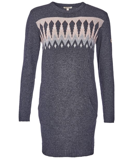 Women's Barbour Carsten Crew Knitted Dress - Carbon Marl