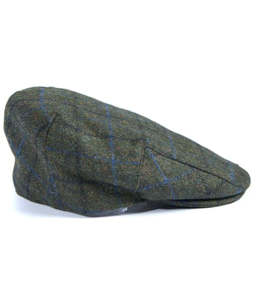 Men's Barbour Moons Tweed Cap - Green Fine Overcheck