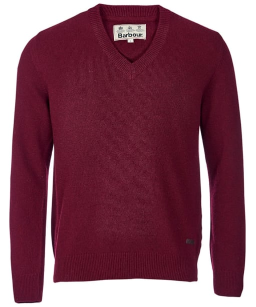 Barbour Nelson Essential V Neck Jumper - Merlot