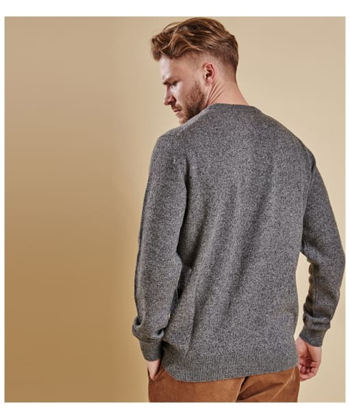 Men's Barbour Tisbury Crew Neck Sweater - Grey