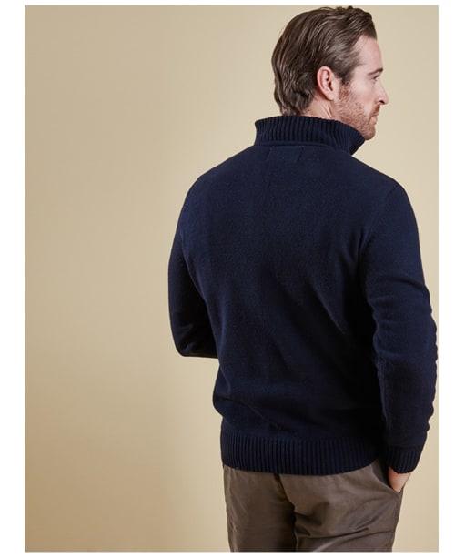 Men's Barbour Nelson Half Zip Sweater - Navy